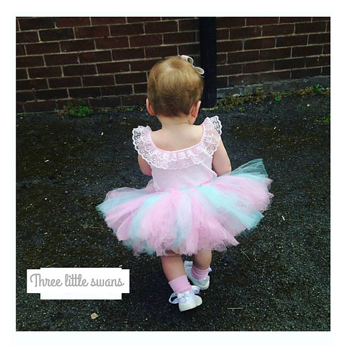 Baby pink and blue tutu