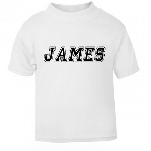 Varsity personalised T-shirt