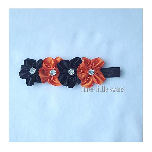 Flower halloween headband