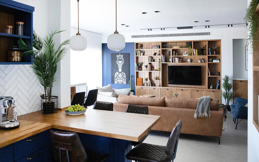 דירה בנצרת, עיצוב פריט נגרות ספריה בסלון