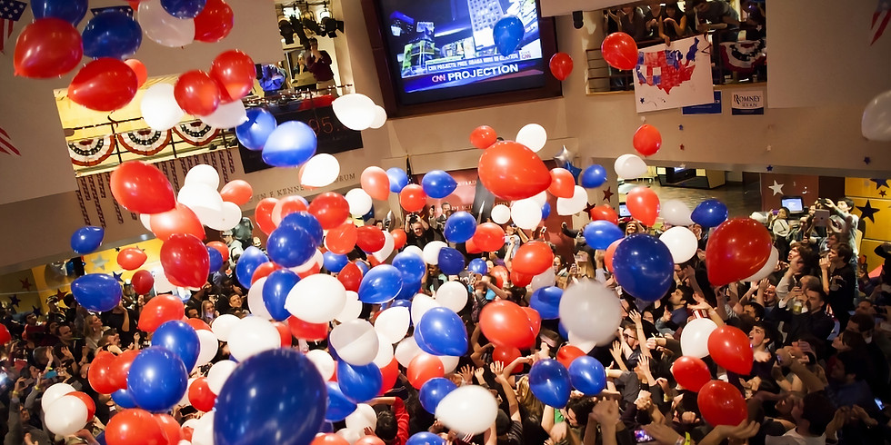 Help us finish strong and then celebrate on Election Day after the polls close
