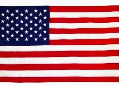 World US Flag with brass grommets
