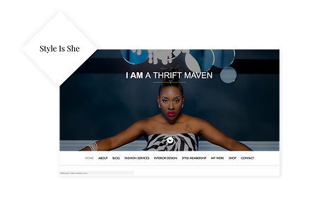 Style is She WIX Website