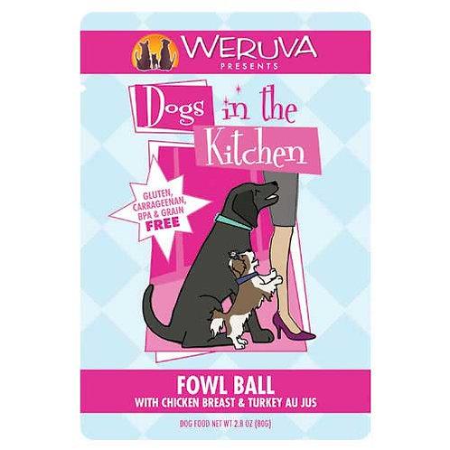 Weruva Dogs in the Kitchen Fowl Ball with Chicken Breast & Turkey Au Jus