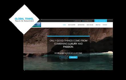 Global travel WIX Website