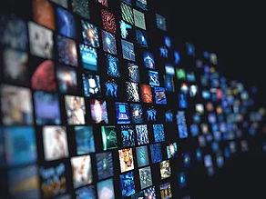 several tv screens
