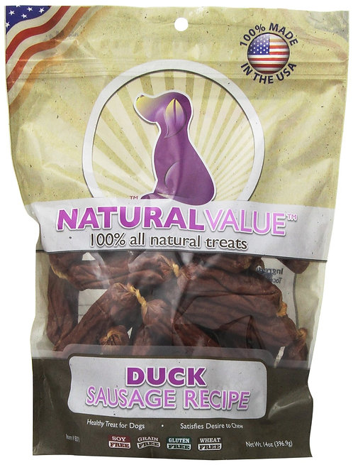 Loving Pet Natural Value Duck Sausage 16oz