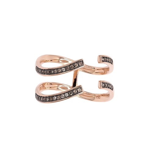 Cropped Infinity Double Banded Ring