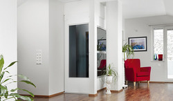 Home lift in a hall