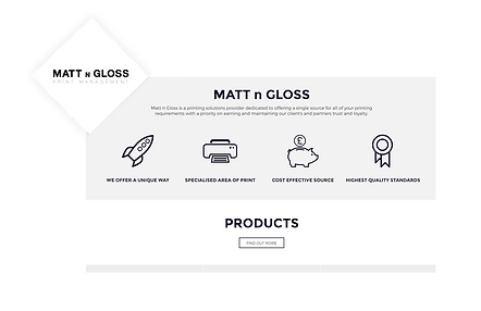 Matt n Gloss WIX Website