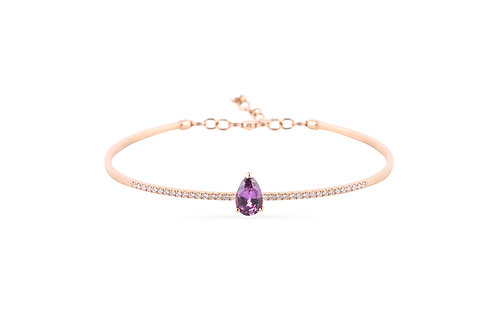Teardrops from Sri Lanka- Purple Bracelet