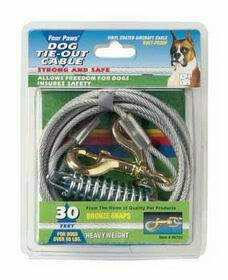 Four Paws Tie Out Cable for Dogs Over 50 Pounds
