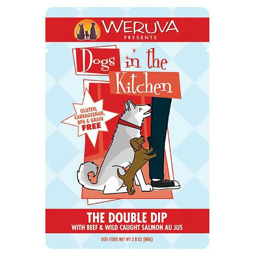 Weruva Dogs in the Kitchen The Double Dip with Beef & Wild Caught Salmon Au Jus