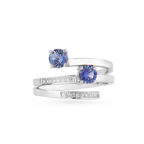 Ceylon Duo Rings - Blue