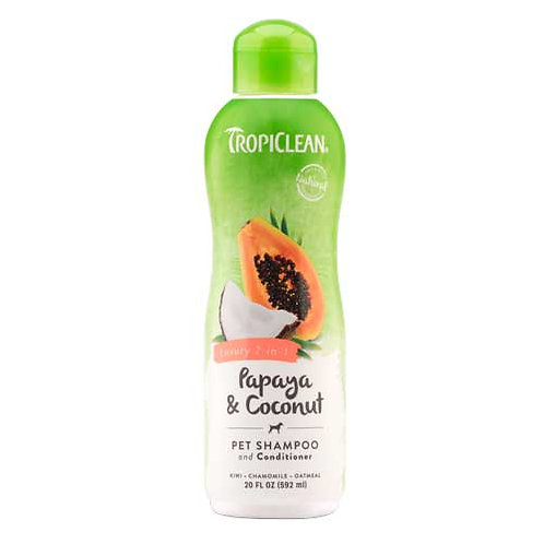 Tropiclean Papaya & Coconut 2-in-1 Shampoo and Conditioner