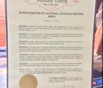Rockland County Legislature Recognizes  National Catholic Sisters Week
