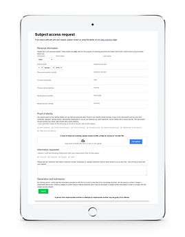 GDPR Subjec Access Request form