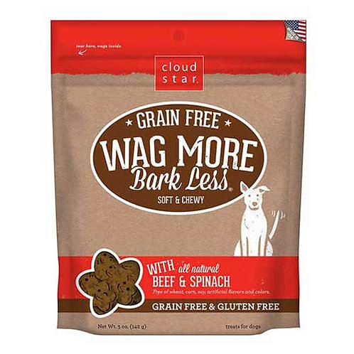 Wag More Grain Free Soft & Chewy Beef & Spinach