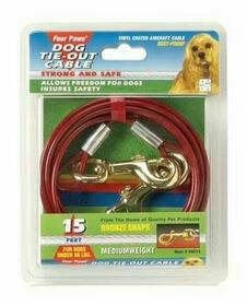 Four Paws Tie Out Cable for Dogs Under 50 Pounds