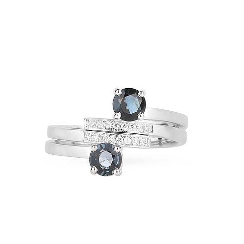 Ceylon Duo Rings - Dark Blue