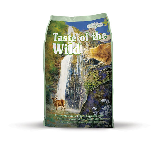 aste of the Wild Rocky Mountain Feline Formula with Roasted Venison & Smoked Sal