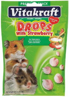 Vitakraft Yogurt Drops with Strawberry for Hamsters