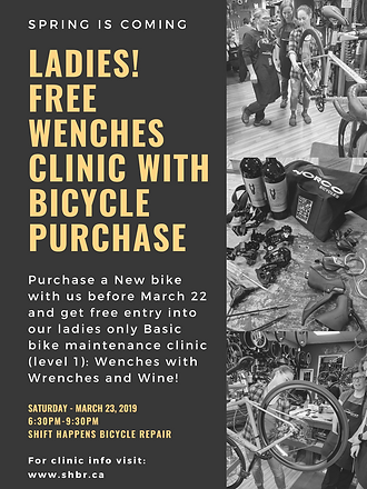 Ladies! Free wenches clinic with bicycle