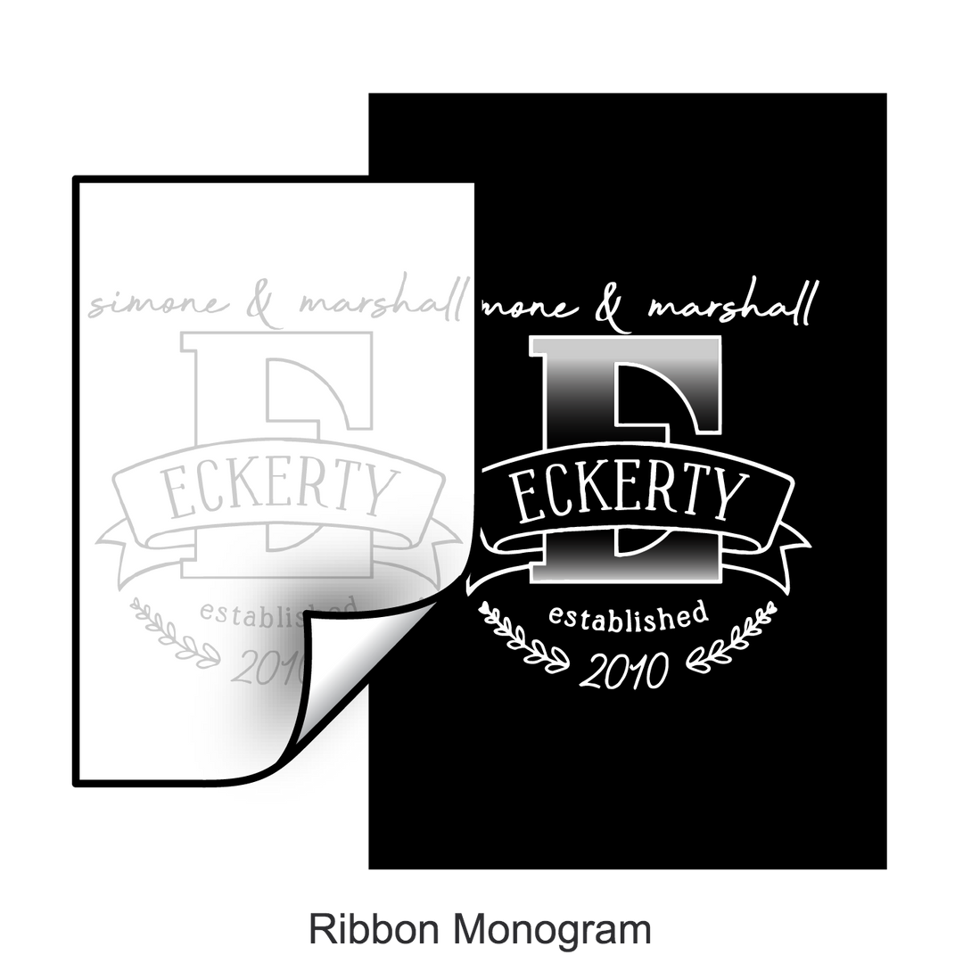 Ribbon Monogram Template