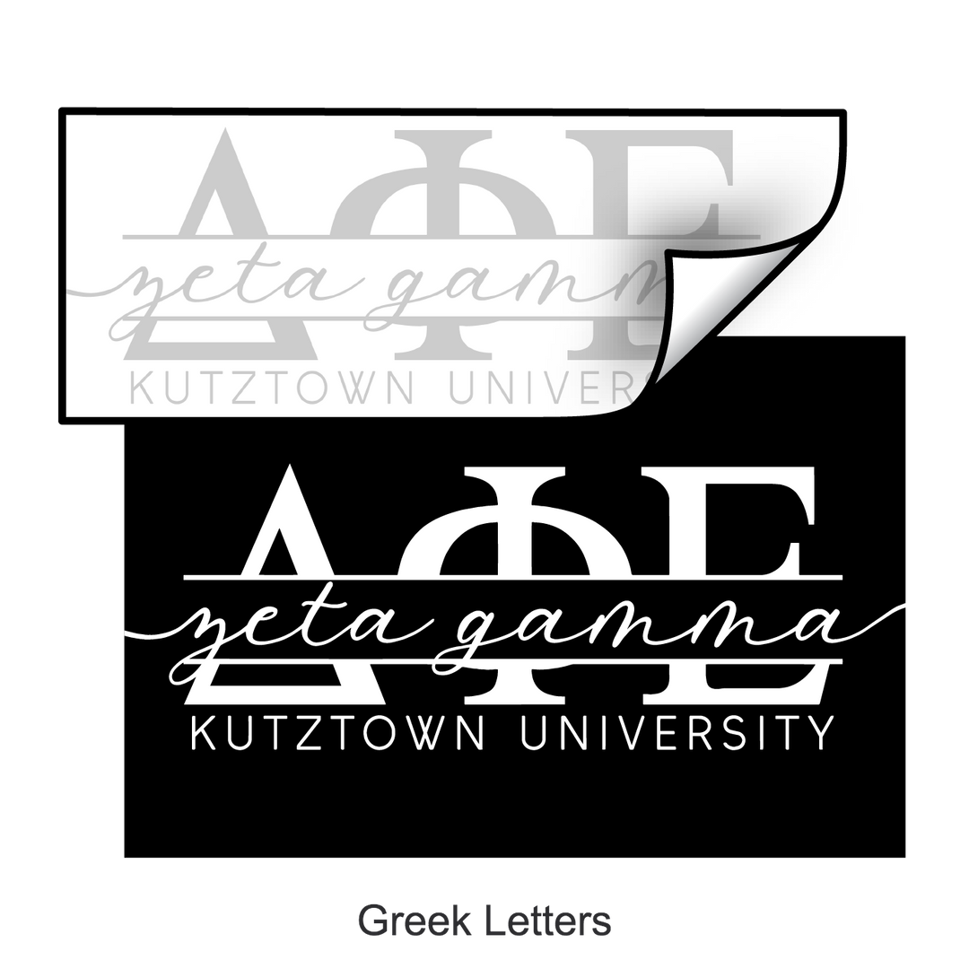 Greek Letters Template
