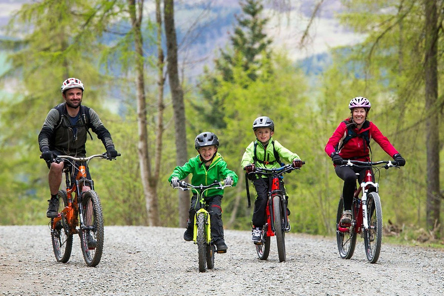 Family Mountain Bike Days Out, Singletrack skills coaching, Guided family rides