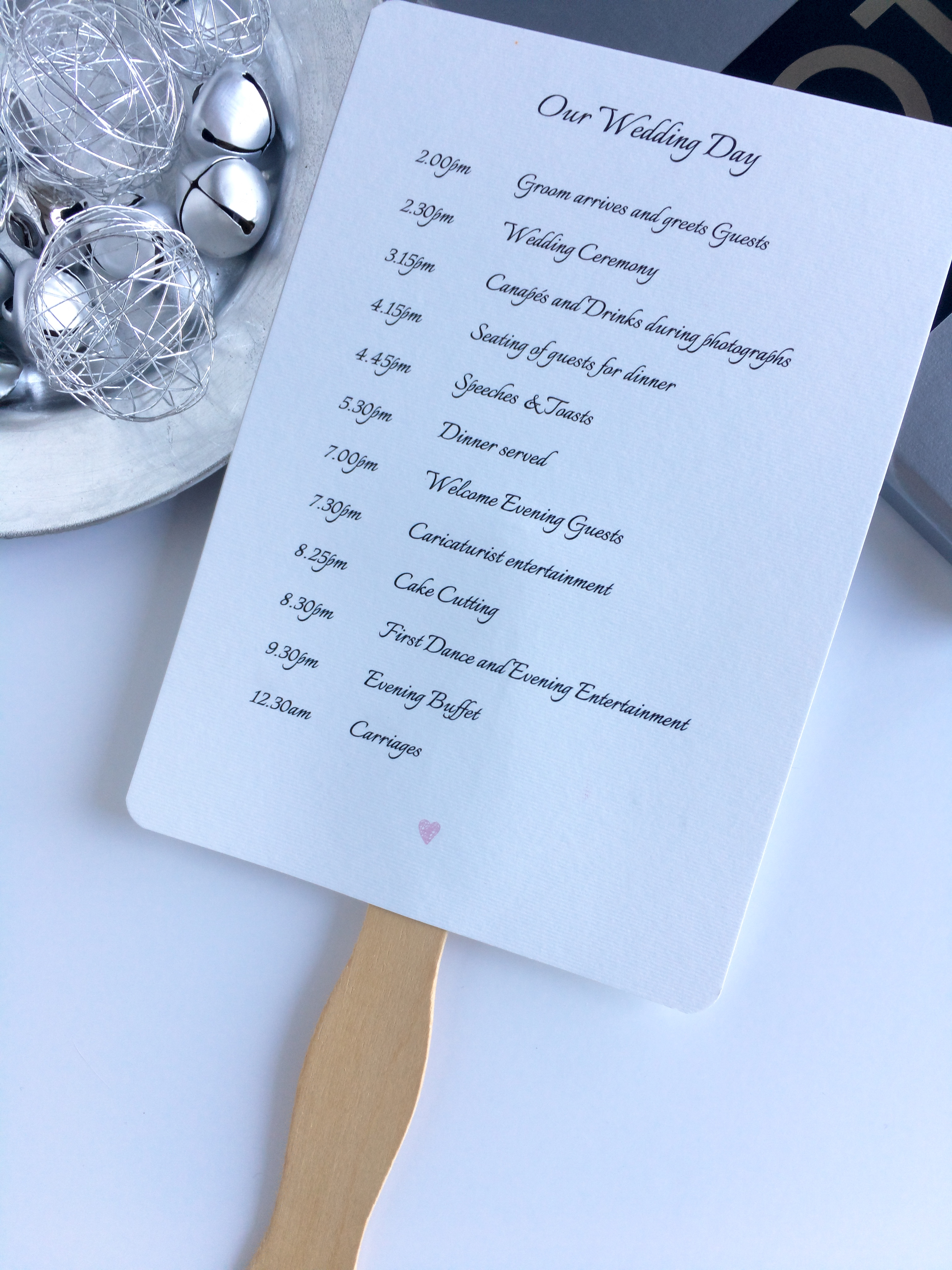 Order of Service/Itinerary Fan