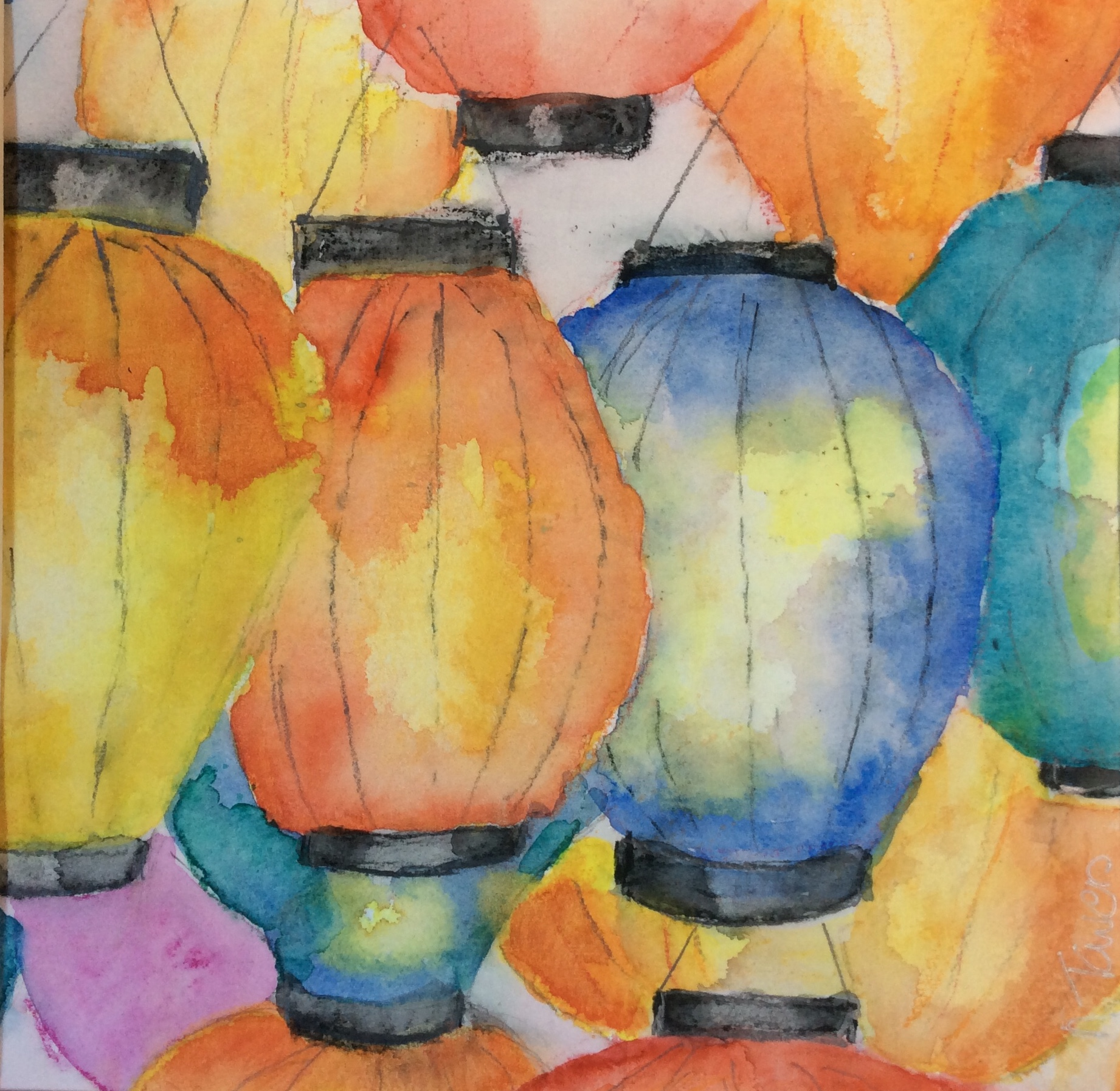 Chinese Lanterns by Norrie Towers