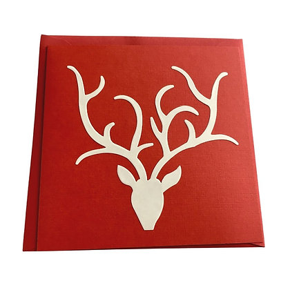 Red Stag Head Cards (pack of 5)