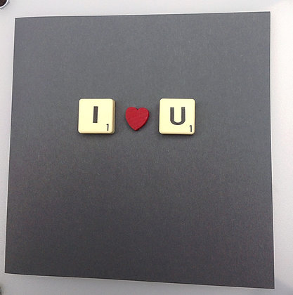 Valentine Scrabble Card