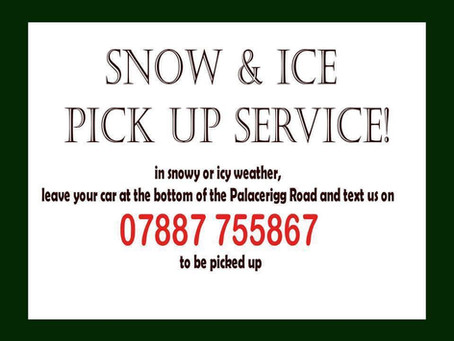 Cold weather Pick-up/Drop-off Service