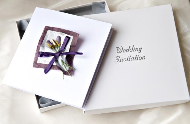 Boxed Bouquet Wedding Invitation
