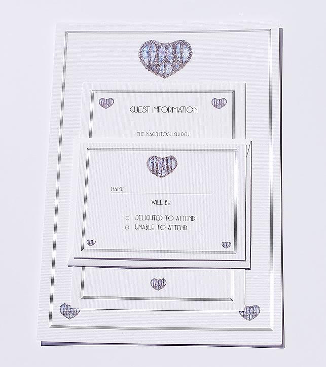 Bespoke Mackintosh Church Wedding Invitation