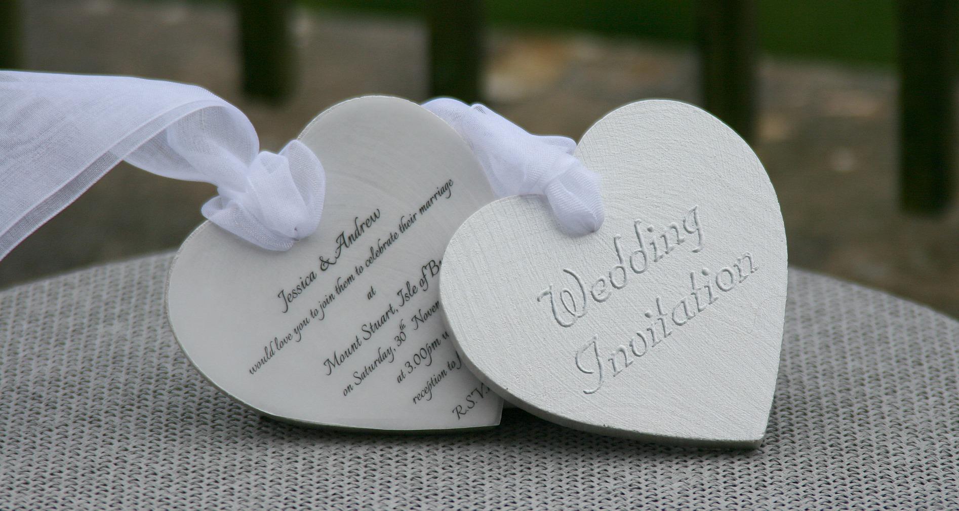 Boxed Wooden Heart Wedding Invitation