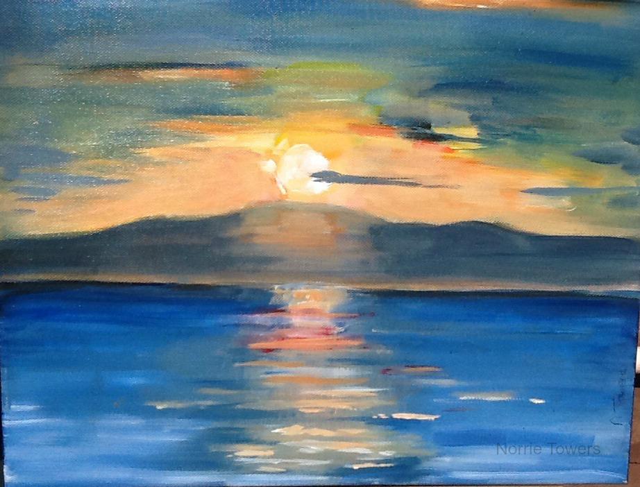 Kilchattan Bay Sunrise AcrylicNT.jpg