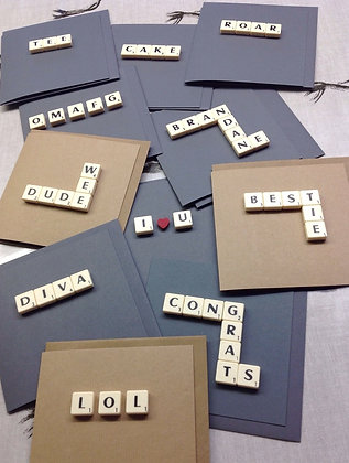 Word Scrabble Cards