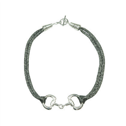Snaffle Necklace (Black)