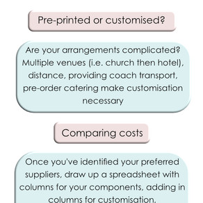 Wedding stationery pricing is so different, how do I compare?