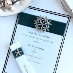 Let's Talk Velvet: Opulent Velvet Ribbon Wedding Invitations