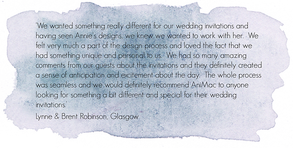 Customer Testimonial for AniMac Wedding