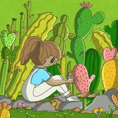 27 - Daily illustration - Cactus land