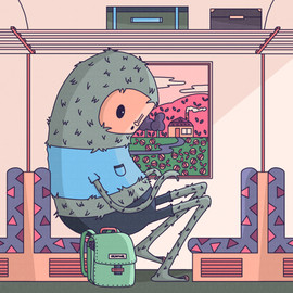01 - Daily illustration - monster train.