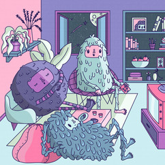 03 - Daily illustration - monster reunio