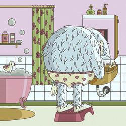 02 - Daily illustration - monster bath