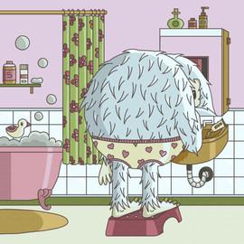 02 - Daily illustration - monster bath.j
