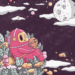 24 - Daily illustration - to the moon an